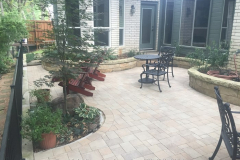 11 north side paver patio and landscape