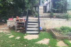 6 Wroght Iron stairs