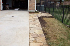 Flagstone driveway extensions