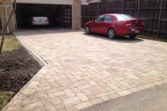 Pavestone Venetian Stone paver driveway