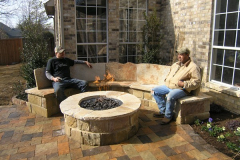 Gas Fire Pit Stone Bench 3