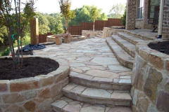 Flagstone patio stairs