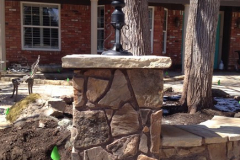 Stone and Brick Benches and Columns