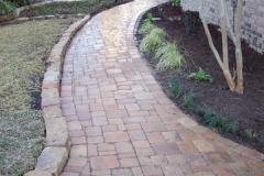vintage stone walkway